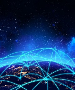 Global network connection and business communication